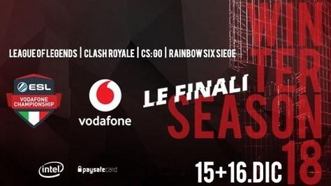 ESL Vodafone Championship: il 15 e 16 dicembre le finali dal vivo a Milano