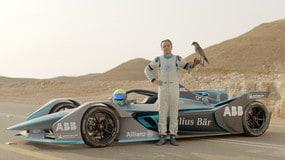 Felipe Massa sfida il falco pellegrino
