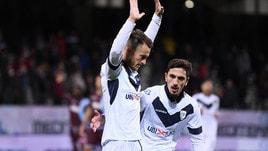 Serie B Salernitana-Brescia 1-3. Donnarumma show: tripletta