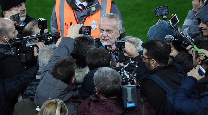 Champions, De Laurentiis allenta la pressione: «Se il Napoli esce non cambia nulla»