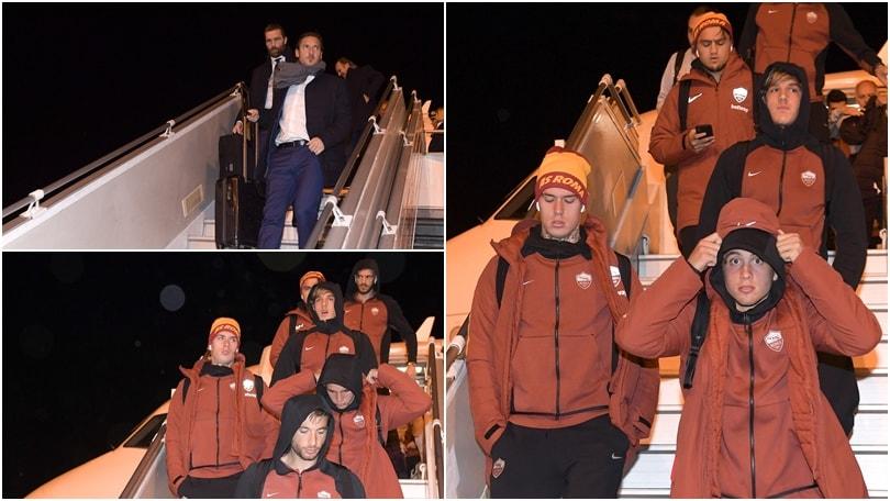 La Roma atterra a Praga: Totti sfida il freddo della capitale