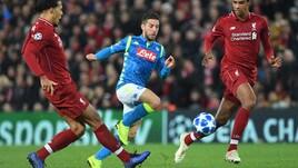 Champions League Liverpool-Napoli 1-0, il tabellino