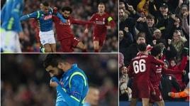 Il Napoli a testa alta ad Anfield, ma passa il Liverpool