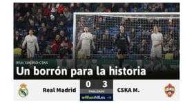 Real Madrid ko col Cska: la stampa non perdona