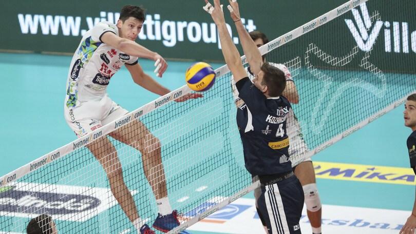 Volley: Superlega, tutto facile per Trento contro Milano