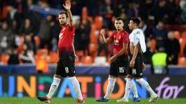 Champions, lo United crolla a Valencia. Ok il City, 3-3 tra Ajax e Bayern