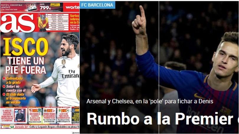 Dalla Spagna:«Isco ha un piede fuori dal Real Madrid. Suarez in Premier»