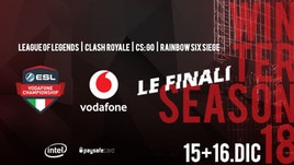 League of Legends, Rainbow Six, CS:GO e Clash Royale: arrivano le finali dell'ESL Vodafone Championship