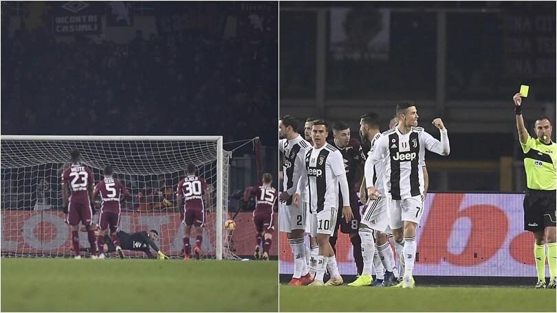 Rigore col brivido di Ronaldo: la Juventus batte anche il Torino