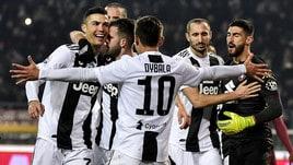 Serie A, Juve da record: l'imbattibilità vale 3,50