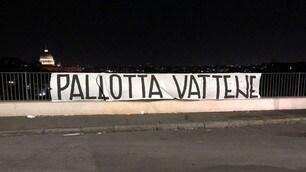 Striscioni a Roma: «Pallotta vattene»