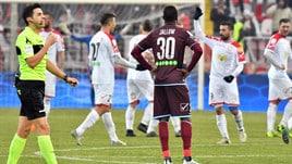 Serie B, Carpi-Salernitana 3-2: Colantuono ora rischia. Il Crotone non sa più vincere: 1-1 con il Venezia