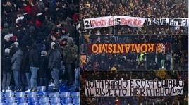 Roma-Genoa: striscioni di contestazione all'Olimpico