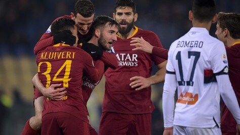 Serie A, Roma-Genoa 3-2: Fazio, Kluivert e Cristante salvano Di Francesco
