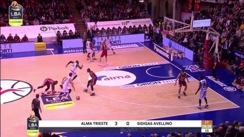 Alma Trieste-Sidigas Avellino 110-64