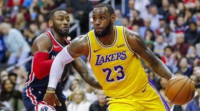 Nba, James a scarto ridotto: Lakers ko a Washington