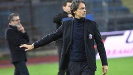 Serie A Bologna, Inzaghi: «Contestazione? Mi ha colpito, gesto riprovevole»