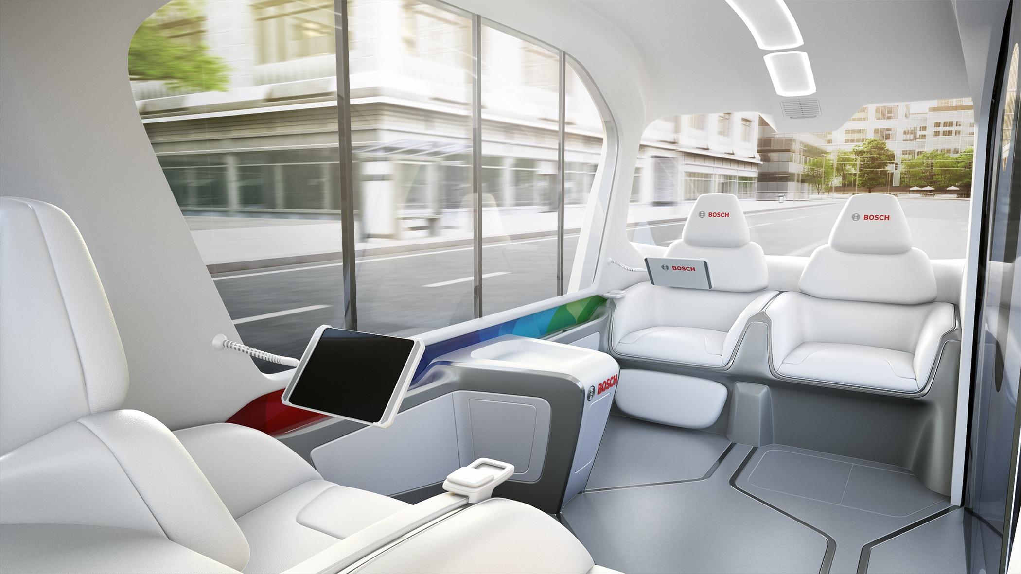 Bosch, show a Las Vegas con gli shuttle elettrici senza conducente