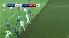 Atalanta-Lazio, gol annullato ad Acerbi per fuorigioco