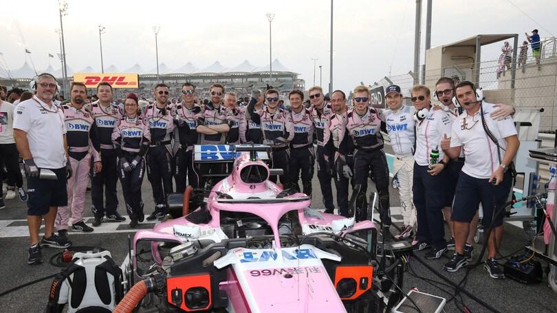Formula 1 2019, Racing Point Force India: presentazione il 13 febbraio