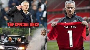 Mourinho lascia il Manchester United: i social se la ridono
