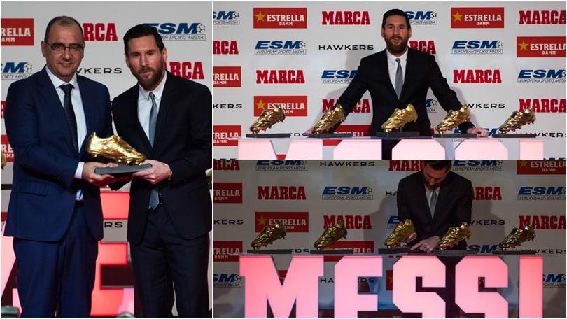 Barcellona, Messi vince la sua quinta Scarpa d'oro: è record