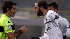 Bologna-Milan 0-0: Higuain ancora a secco, rosso a Bakayoko