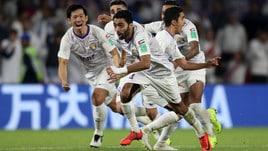 Mondiale per Club: Al Ain in finale, l'impresa Real vale 13,00