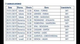 Serie A, anticipi e posticipi fino alla nona di ritorno: il programma e dove vederli in tv