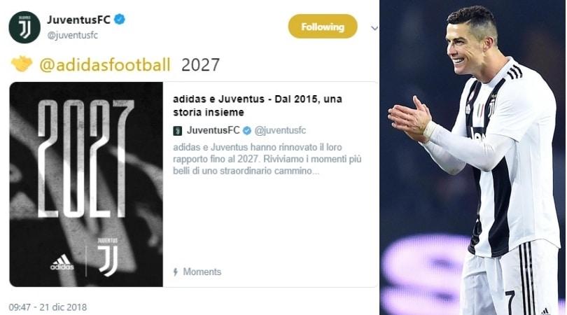 Juve, l'Adidas ti fa ricca: rinnovo record fino al 2027