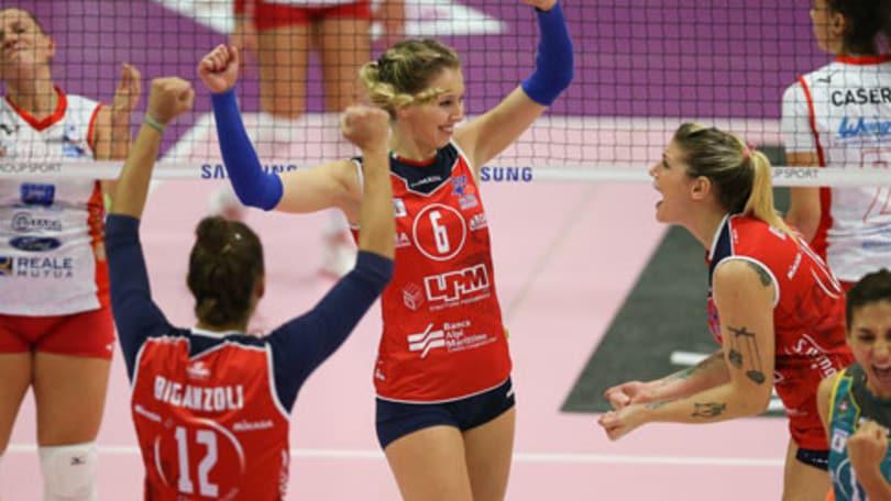 Volley: A2 Femminile, la capolista Mondovì soffre ma vince ad Olbia