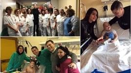 Cuore Cristiano: Ronaldoe Georgina con i baby pazienti del Regina Margherita