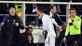 Juventus, Allegri ha deciso:«Ronaldo andrà in panchina»