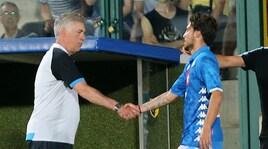 Ancelotti sorride: con l'Inter un Napoli al gran completo
