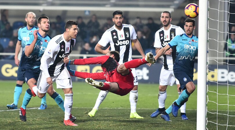 Atalanta-Juventus 2-2: Ronaldo salva Allegri