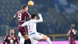 Serie A Torino-Empoli 3-0, il tabellino
