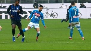 Inter-Napoli, scintille fra Keita e Insigne (poi espulso)