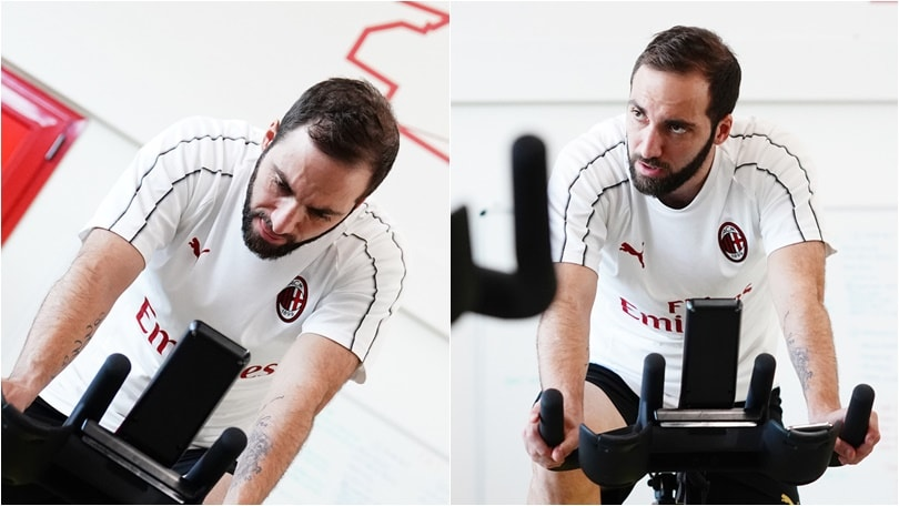 Milan, Higuain pedala verso il ritorno al gol