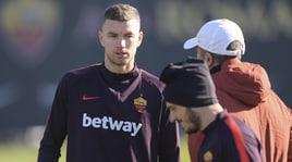 Roma, Dzeko pronto per la sfida contro il Parma