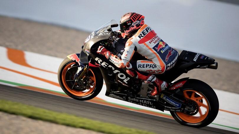 MotoGp Honda, Marquez: «Primo allenamento, faccio progressi»