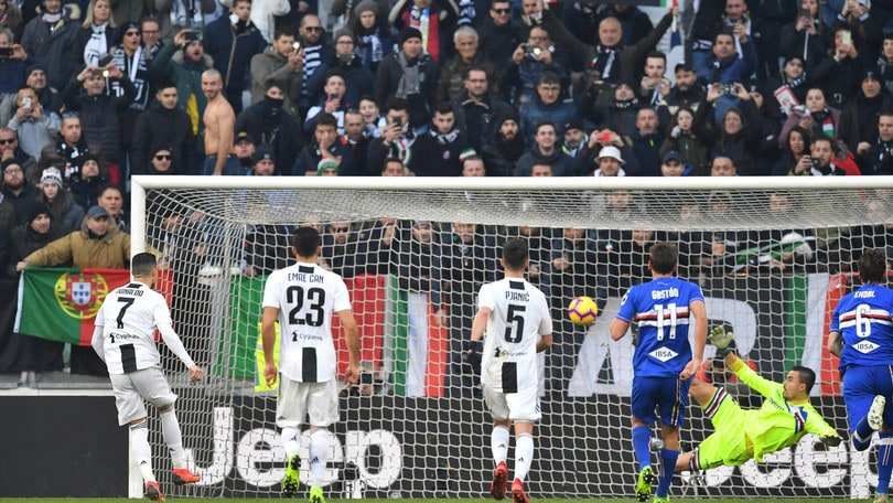 Serie A Juventus-Sampdoria 2-1, il tabellino