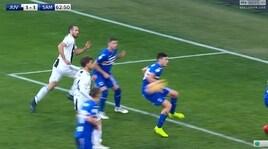 Juventus-Sampdoria, il fallo di mano di Ferrari