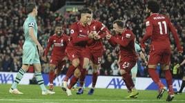 Premier: cinquina Liverpool all'Arsenal, tonfo Tottenham! Vince Ranieri