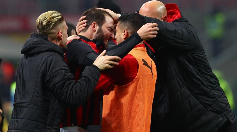 Milan-Spal 2-1: Higuain si sblocca e decide il match
