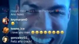Cristiano Ronaldo si esalta un po' troppo durante una diretta Instagram