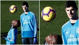Real Madrid, Courtois incantato dai palleggi di Vinicius jr