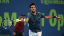Djokovic avanza a Doha: pass per i quarti in rimonta