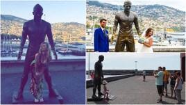 Cristiano Ronaldo, a Madeira tutti pazzi per la statua