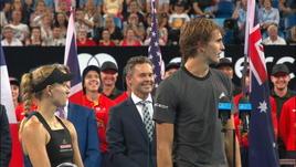 Zverev, siparietto con Federer dopo il K.O.