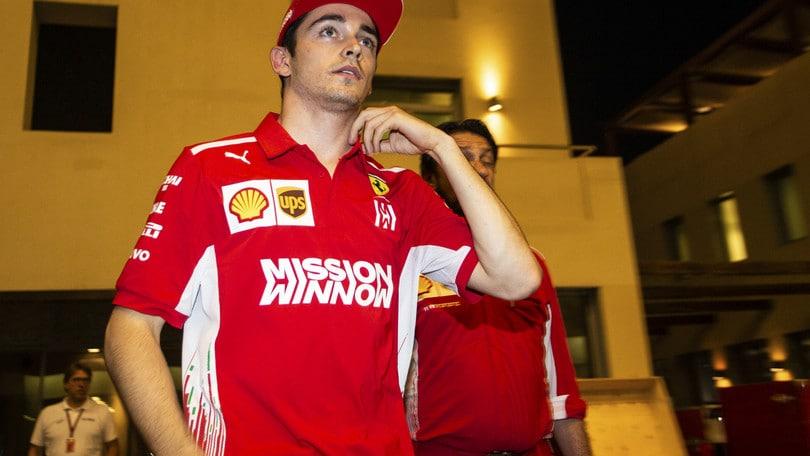 F1 Ferrari, Leclerc: «È un onore guidare assieme a Vettel»